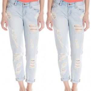 Lucky Brand Sienna Cigarette Destructed Jeans
